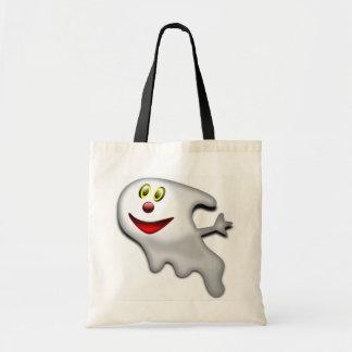 Fantasma feliz amistoso bolsa lienzo