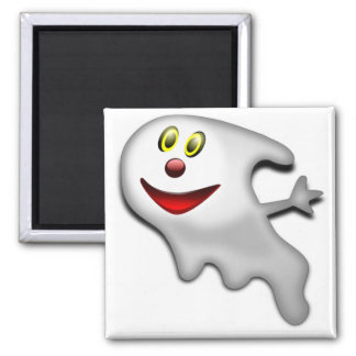 Fantasma feliz amistoso imán de frigorifico