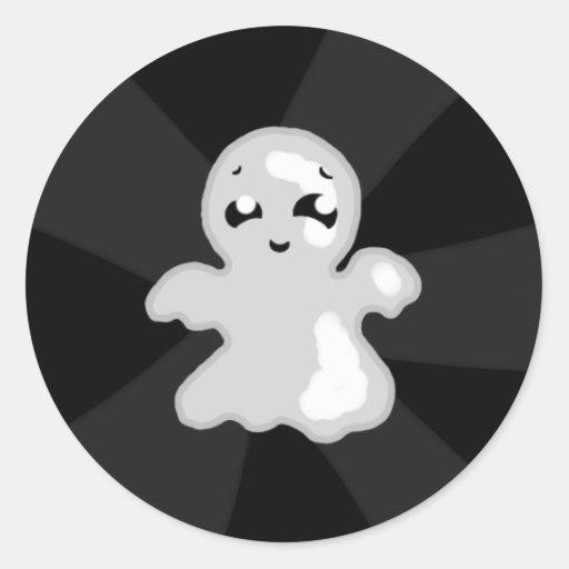 Fantasma feliz pegatina redonda