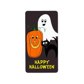 Fantasma, gato, pegatinas de Halloween de la Etiquetas De Dirección