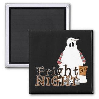 Fantasma Halloween de la noche del susto Imán Cuadrado