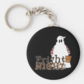Fantasma Halloween de la noche del susto Llavero Personalizado