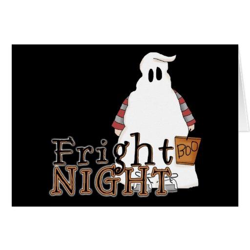 Fantasma Halloween de la noche del susto Tarjeta Pequeña