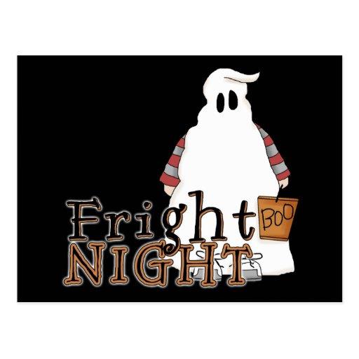 Fantasma Halloween de la noche del susto Tarjeta Postal