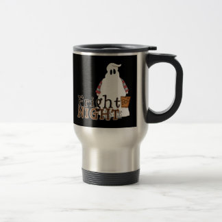 Fantasma Halloween de la noche del susto Taza Térmica
