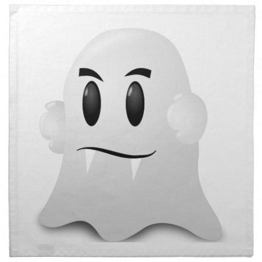 Fantasma Halloween Servilleta Imprimida