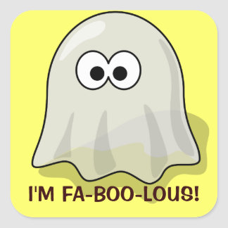 Fantasma lindo de Halloween del dibujo animado de Colcomanias Cuadradases