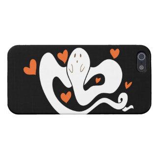 Fantasma lindo de los corazones iPhone 5 funda
