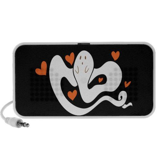 Fantasma lindo de los corazones iPhone altavoces