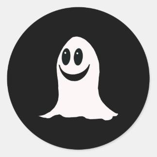 Fantasma lindo del dibujo animado de Halloween Pegatina Redonda