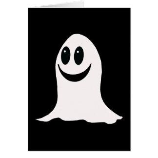 Fantasma lindo del dibujo animado de Halloween Tarjeta De Felicitación