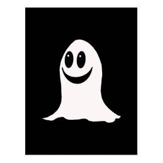 Fantasma lindo del dibujo animado de Halloween Postal