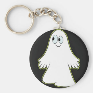 Fantasma Llavero Redondo Tipo Pin