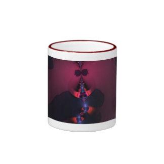 Fantasma magenta - color de rosa y placer del añil taza