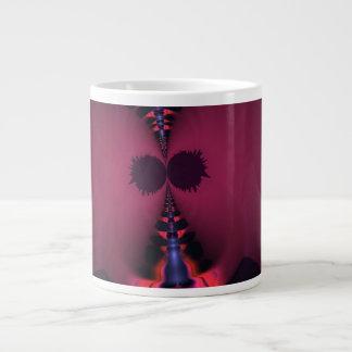 Fantasma magenta - color de rosa y placer del añil taza jumbo