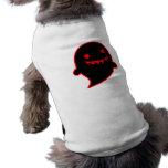 Fantasma negro camisa de mascota
