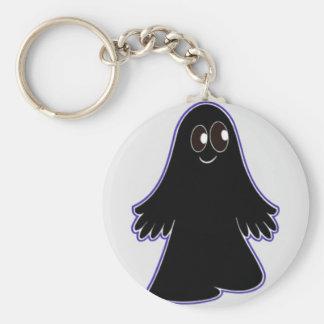 Fantasma negro llavero redondo tipo pin