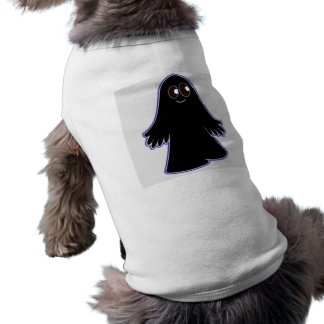Fantasma negro playera sin mangas para perro