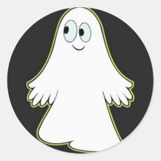 Fantasma Pegatina Redonda
