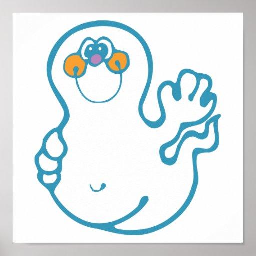 fantasma que agita tonto poster