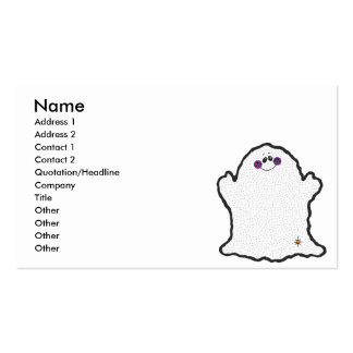 fantasma rechoncho tarjetas de visita