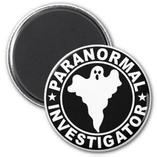 Fantasma sobrenatural del logotipo paranormal del  imán redondo 5 cm