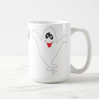 Fantasma tonto de Halloween Taza Básica Blanca