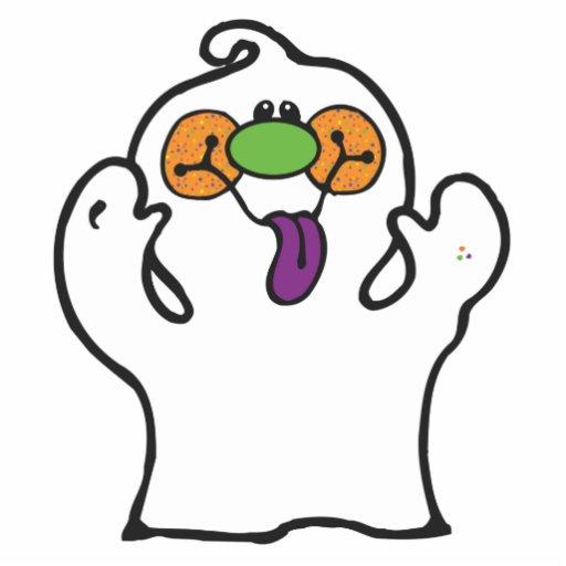 fantasma tonto que pega hacia fuera la lengua fotoescultura vertical