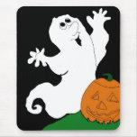 Fantasma y calabaza del dibujo animado alfombrillas de ratones