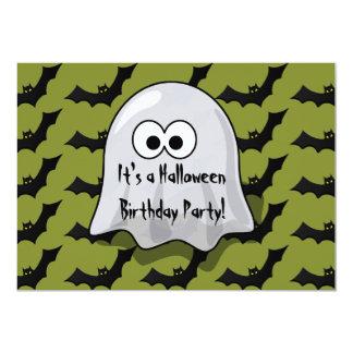 """Fantasma y palos lindos de la fiesta de cumpleaños invitación 5"""" x 7"""""""