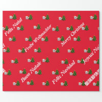 Fantasmaa of whatsapp Merry Christmas several lang Wrapping Paper