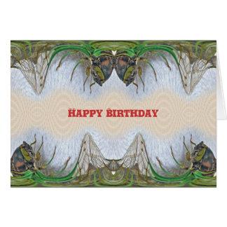 Fantasmagorical Cicada Birthday Card