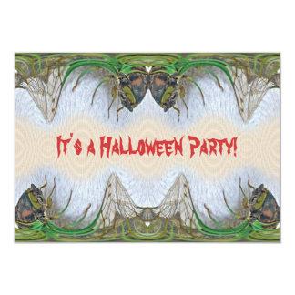 Fantasmagorical Cicada Halloween Party Invitation