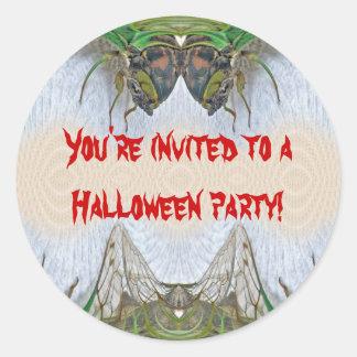 Fantasmagorical Cicada Halloween Party Sticker