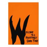 Fantasmagórico anaranjado y negro invitación personalizada