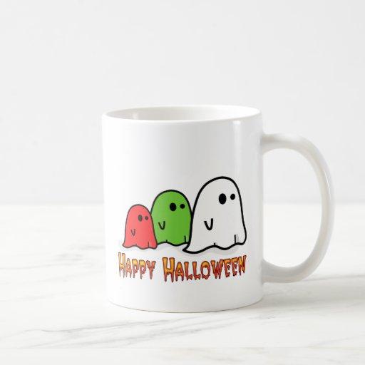 Fantasmas coloridos taza clásica