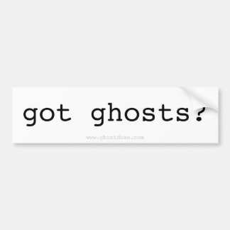 ¿fantasmas conseguidos? Pegatina Pegatina Para Auto
