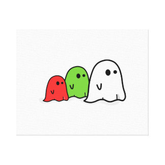 Fantasmas de Halloween Impresión De Lienzo