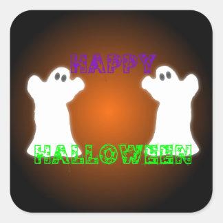 Fantasmas de Halloween Pegatina Cuadrada