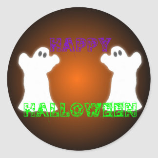 Fantasmas de Halloween Pegatina Redonda