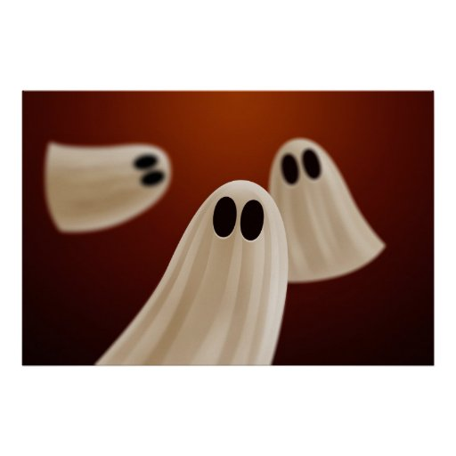 Fantasmas de Halloween Póster