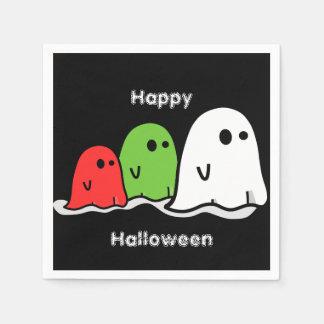 Fantasmas de Halloween y servilletas del cóctel de Servilletas Desechables