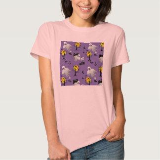 Fantasmas de la Luna Llena de Halloween en púrpura T Shirts