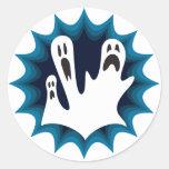 Fantasmas de Scaredy Pegatina Redonda
