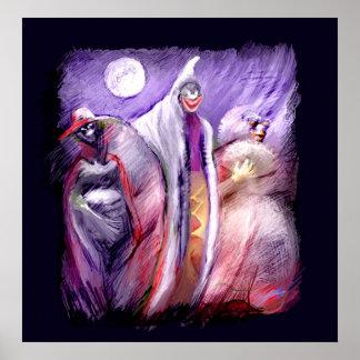 Fantasmas del *** en el *** de la noche póster
