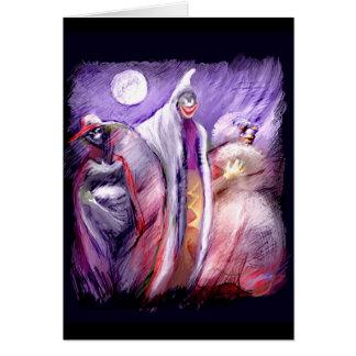 Fantasmas del *** en el *** de la noche tarjeta de felicitación