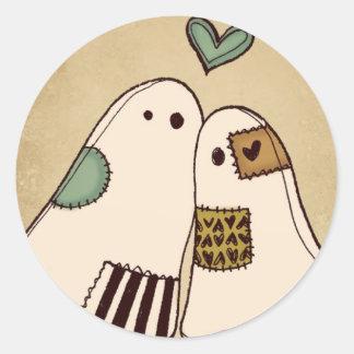 fantasmas del feliz Halloween Pegatina