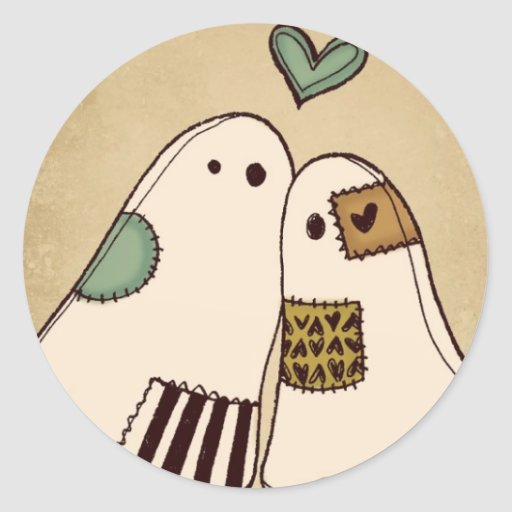 fantasmas del feliz Halloween Pegatina Redonda