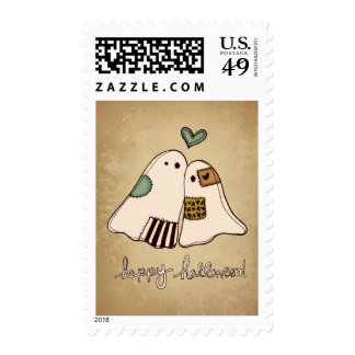 fantasmas del feliz Halloween Sello Postal