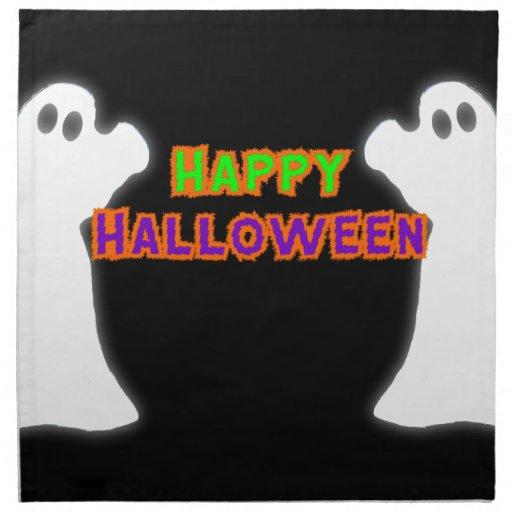 Fantasmas del feliz Halloween Servilletas De Papel